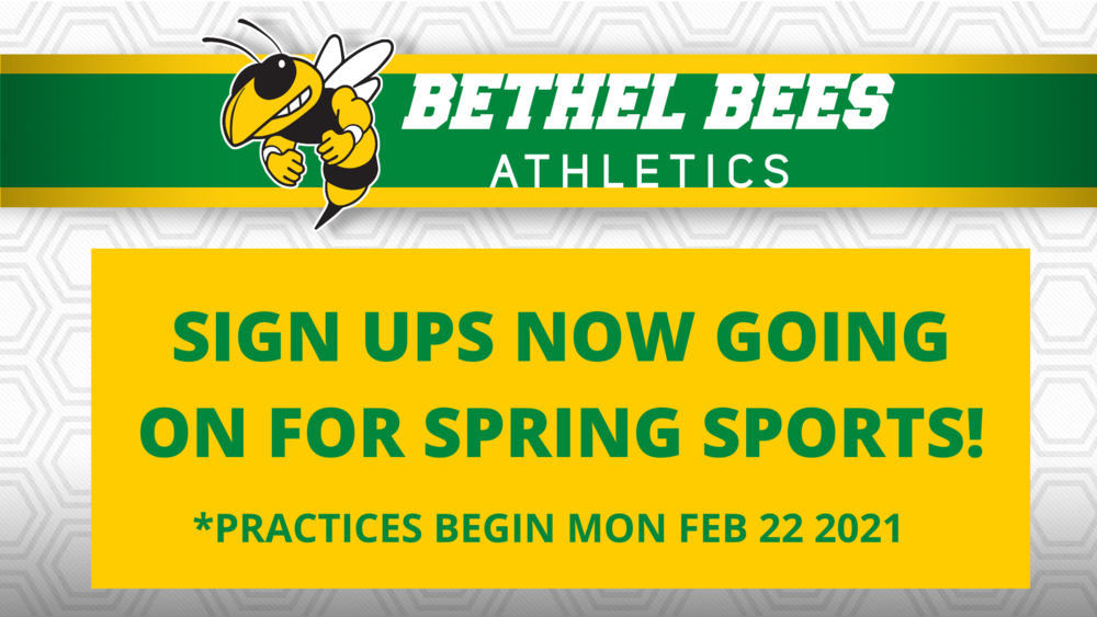 Spring Sports Starting Soon- Sign Up!