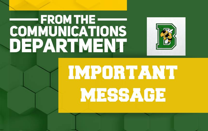 A Message From BLS Communications Department