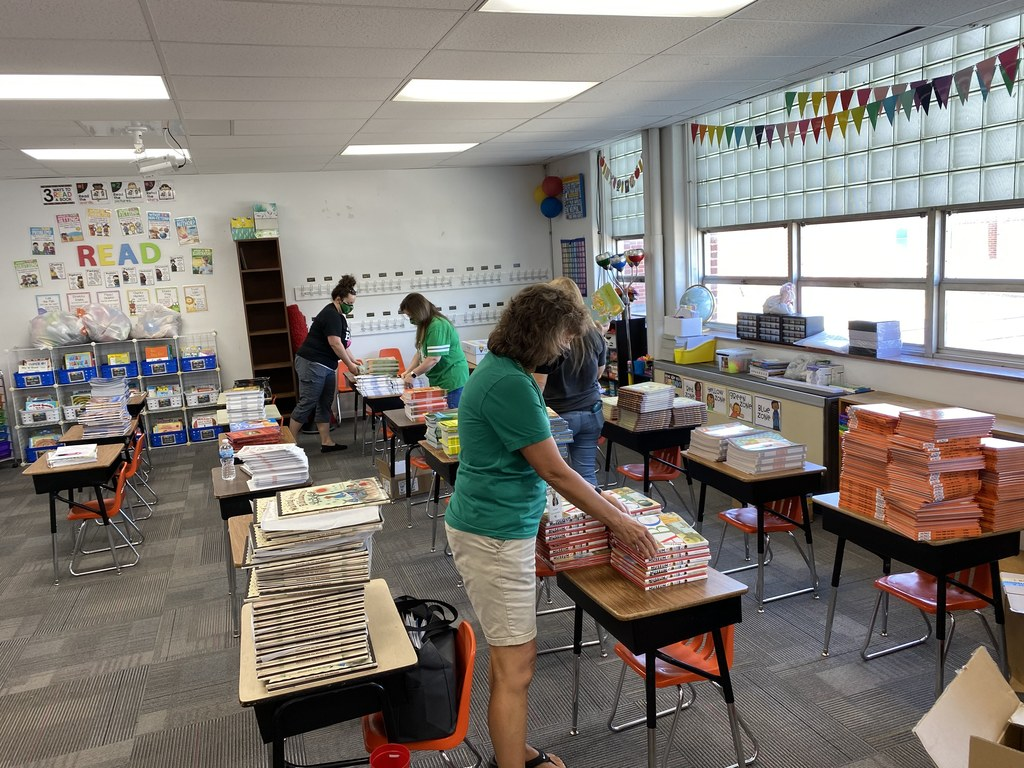 bls teachers unpacking books