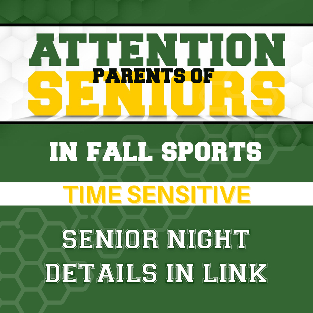 Attn fall sports senior night