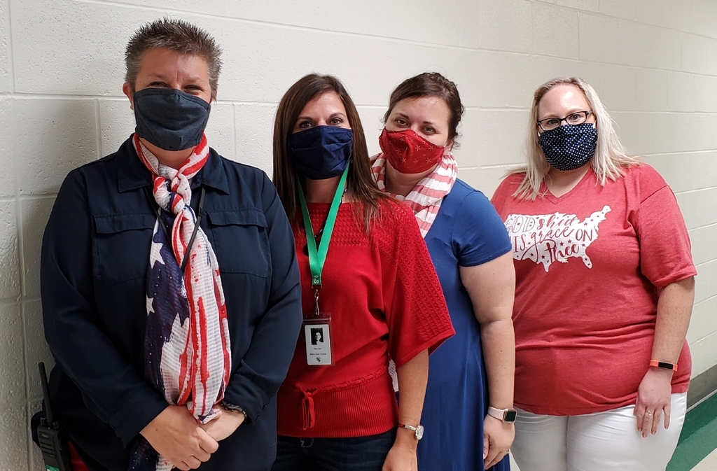 Staff goes all in as well with Red, White & Blue Day