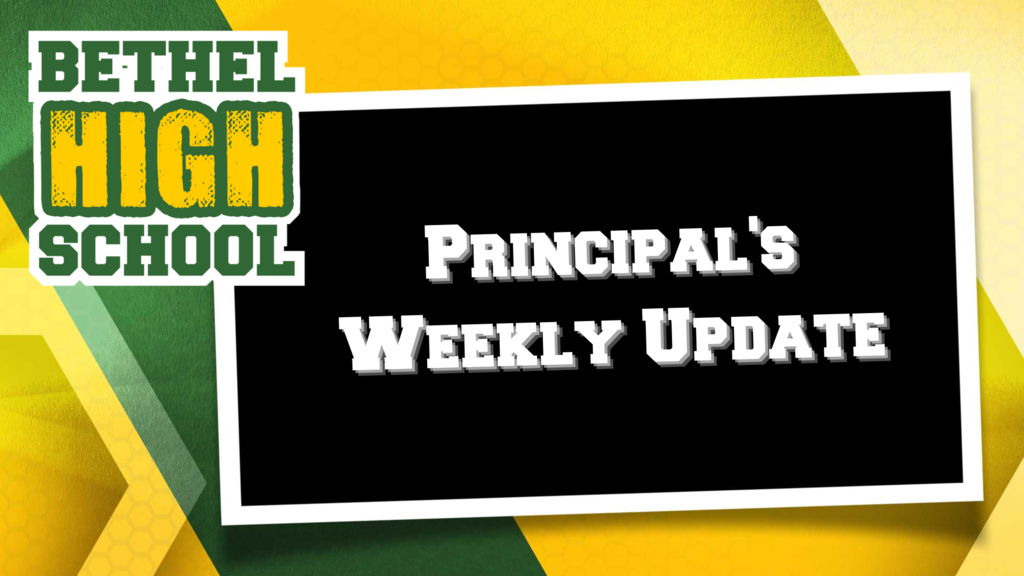 HS Principal's Weekly Newsletter